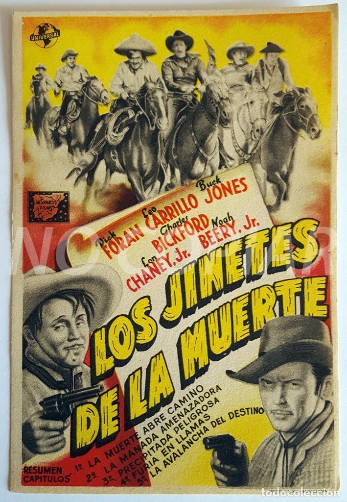 PACK 3 PROGRAMAS DIFERENTES DE LA SERIE LOS JINETES DE LA MUERTE. SIN USO!!! (Cine - Folletos de Mano - Westerns)