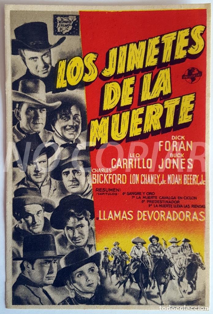 Cine: PACK 3 PROGRAMAS DIFERENTES DE LA SERIE LOS JINETES DE LA MUERTE. SIN USO!!! - Foto 2 - 146643510