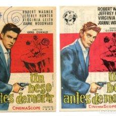 Cine: UN BESO ANTES DE MORIR, CON ROBERT WAGNER. C/I.. Lote 146778554