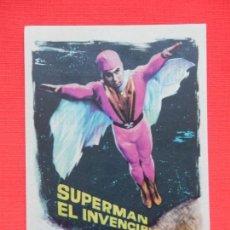 Cine: SUPERMAN EL INVENCIBLE, IMPECABLE SENCILLO, CON PUBLICIDAD CINE AVENIDA 1966. Lote 146779306