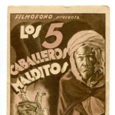 Cine: LOS CABALLEROS MALDITOS, CON HARRY BAUR. S/I.. Lote 146838858