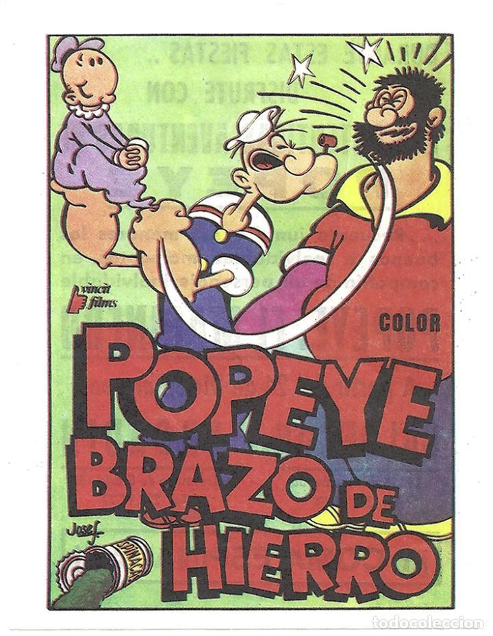 PTCC 033 POPEYE BRAZO DE HIERRO PROGRAMA SENCILLO VINCIT FILMS ANIMACION (Cine - Folletos de Mano - Infantil)