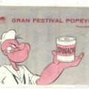 Cine: PTCC 033 GRAN FESTIVAL POPEYE PROGRAMA SENCILLO PARAMOUNT ANIMACION APAISADO A. Lote 146919314