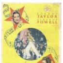 Cine: PTCC 033 LA MELODIA DE BROADWAY 1936 PROGRAMA SENCILLO MGM ROBERT TAYLOR ELEANOR POWELL JACK BENNY. Lote 146919338
