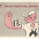 Cine: PTCC 033 GRAN FESTIVAL POPEYE PROGRAMA SENCILLO PARAMOUNT ANIMACION APAISADO B. Lote 146919790