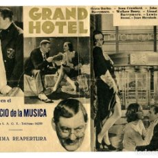 Cine: GRAND HOTEL, CON GRETA GARBO.. Lote 146959394
