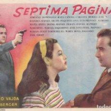 Cine: SÉPTIMA PÁGINA CON RAFAEL DURÁN, ALFREDO MAYO, LUÍS PRENDES EN CINEMAS PRINCIPAL I LA RAMBLA. Lote 146991610