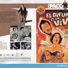 Cine: DOS DVD DIARIO LA RAZÓN DE PACO MARTÍNEZ SORIA EL DIFUNTO ES UN VIVO Y EL TURISMO ES UN GRAN INVENTO. Lote 153857430