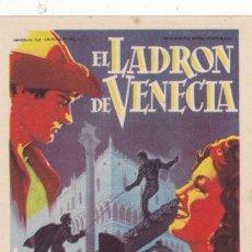 Cine: EL LADRÓN DE VENECIA CON MARÍA MONTEZ, PAUL CHRISTIAN,MASSIMO SERATO EN CINEMAS PRINCIPAL-LA RAMBLA. Lote 146994354