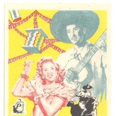 Cine: PTCC 034 LA FERIA DE JALISCO PROGRAMA SENCILLO CINE MEJICANO RAMON ARMENGOD NINON SEVILLA . Lote 147005790