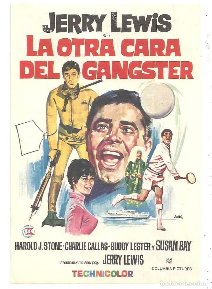 PTCC 034 LA OTRA CARA DEL GANGSTER PROGRAMA SENCILLO COLUMBIA JERRY LEWIS SUBMARINISMO TENNIS (Cine - Folletos de Mano - Deportes)