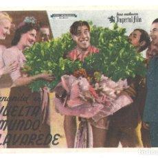 Folhetos de mão de filmes antigos de cinema: PTCC 034 LA VUELTA AL MUNDO DE LAVAREDE PROGRAMA SENCILLO IMPERIAL FILM FERNANDEL CICLISMO B. Lote 147011370