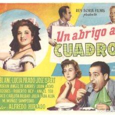 Cine: PTCC 035 UN ABRIGO A CUADROS PROGRAMA SENCILLO REY SORIA TONY LEBLANC JOSE ISBERT. Lote 147032498
