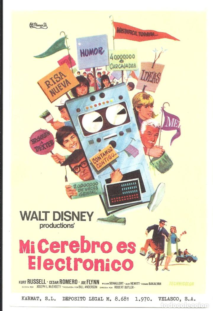 PTCC 035 MI CEREBRO ES ELECTRONICO PROGRAMA SENCILLO FILMAYER WALT DISNEY KURT RUSSELL (Cine - Folletos de Mano - Infantil)
