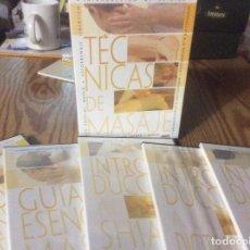 Cine: TECNICAS DE MASAJE 5 DVD SHIATSU, REFLEXIOLOGIA, DIGITOPUNTURA LINFATICO MASAJE.. Lote 147094510