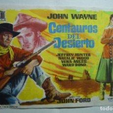 Cine: PROGRA,A CENTAUROS DEL DESIERTO . JOHN WAYNE -PUBLICIDAD BB ¡¡VER FOTO¡¡. Lote 147102690
