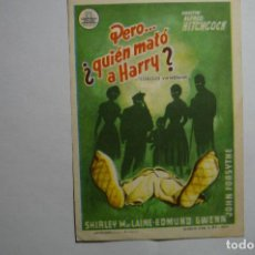 Cine: PROGRAMA PERO...¿QUIEN MATO A HARRY? -A.HITCHCOCK . Lote 147108938