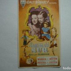 Cinema - programa cancion del sur.- disney publicidad - 147261126