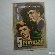Cine: PROGRAMA 5 PISTOLAS- DOROTHY MALONE -PUBLICIDAD. Lote 147261250