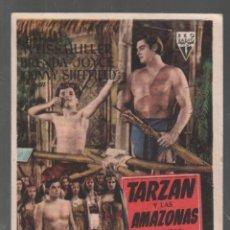 Folhetos de mão de filmes antigos de cinema: TARZAN Y LAS AMAZONAS - PROGRAMA SENCILLO DE RKO CON PUBLICIDAD RF-2063 , BUEN ESTADO. Lote 147297226
