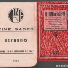 Cine: EL LIBRO DE LA SELVA / PROGRAMA TROQUELADO CON PUBLICIDAD RF-2068 , BUEN ESTADO. Lote 147321674