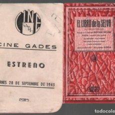 Cine: EL LIBRO DE LA SELVA / PROGRAMA TROQUELADO CON PUBLICIDAD RF-2069 . Lote 147321894