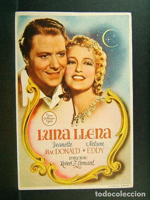 LUNA LLENA-ROBERT Z. LEONARD-JEANETTE MACDONALD-NELSON EDDY-ESTRENO-CINE ORIENTE-GERONA-1945. (Cine - Folletos de Mano - Musicales)