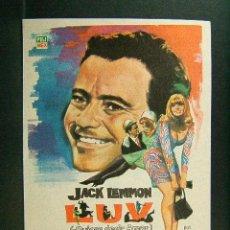 Cine: LUV-QUIERE DECIR AMOR-CLIVE DONNER-JACK LEMMON-PETER FALK-ELAINE MAY-ILUSTRADO POR MONTALBAN-1968. . Lote 147339570