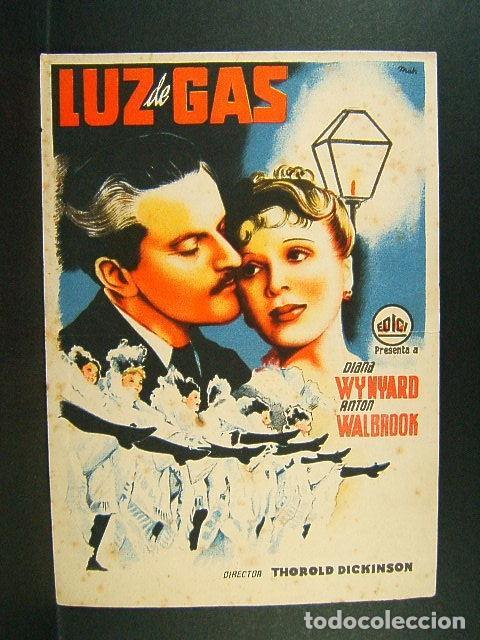 LUZ DE GAS-THOROLD DICKINSON-DIANA WYNYARD-ANTON WALBROOK-(1940). (Cine - Folletos de Mano - Musicales)
