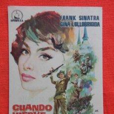 Cine: CUANDO HIERVE LA SANGRE, IMPECABLE SENCILLO, FRANK SINATRA G. LOLLOBRIGIDA, CINE MONTERROSA. Lote 147369174