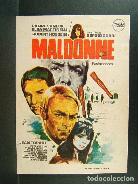 MALDONNE-SERGIO GOBBI-JEAN TOPART-PIERRE VANECK-ELSA MARTINELLI-HERMIDA-CINE FOMENTO-LA BISBAL-1972. (Cine - Folletos de Mano - Suspense)