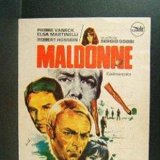 Cine: MALDONNE-SERGIO GOBBI-JEAN TOPART-PIERRE VANECK-ELSA MARTINELLI-HERMIDA-CINE FOMENTO-LA BISBAL-1972.. Lote 147370718