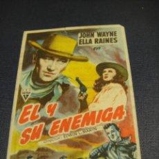 Cine: EL Y SU ENEMIGA - CINE GOYA , ZARAGOZA. Lote 147391386