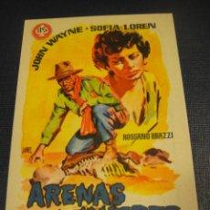 Cine: ARENAS DE MUERTE - CINE DORADO , ZARAGOZA. Lote 147392030