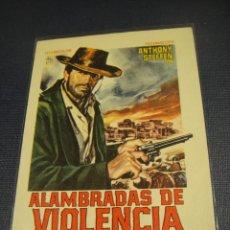 Cine: ALAMBRADAS DE VIOLENCIA - SIN PUBLICIDAD. Lote 147392218