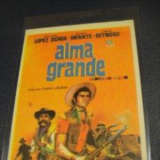 Cine: ALMA GRANDE - SIN PUBLICIDAD. Lote 147392602