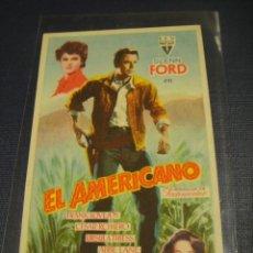 Cine: EL AMERICANO - SIN PUBLICIDAD. Lote 147392710