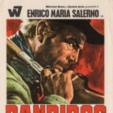 Cine: BANDIDOS - ENRICO MARIA SALERNO, MARIA MARTIN - FOLLETO DE MANO - SIMPLE - SIN PUBLICIDAD. Lote 147499986