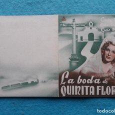 Cine: LA BODA DE QUINITA FLORES. LUCHY SOTO, RAFAEL DURÁN, LUIS PEÑA.... Lote 147513094