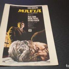 Cine: PROGRAMA DE MANO ORIG - MAFIA - SIN CINE. Lote 147530634