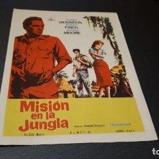Cine: PROGRAMA DE MANO ORIG - MISION EN LA JUNGLA - SIN CINE. Lote 147531986