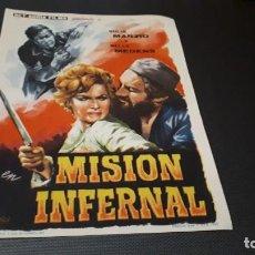 Cine: PROGRAMA DE MANO ORIG - MISION INFERNAL - SIN CINE. Lote 147532098