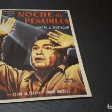 Cine: PROGRAMA DE MANO ORIG - NOCHE DE PESADILLA - SIN CINE. Lote 147533142