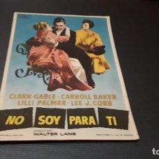 Cine: PROGRAMA DE MANO ORIG - NO SOY PARA TI - SIN CINE. Lote 147533702
