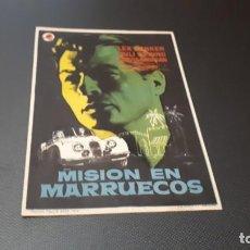 Cine: PROGRAMA DE MANO ORIG - MISION EN MARRUECOS - SIN CINE. Lote 147534998