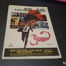 Cinema - PROGRAMA DE MANO ORIG - SCORPIO - SIN CINE - 147644538