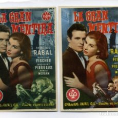 Cine: LA GRAN MENTIRA, CON FRANCISCO RABAL.. Lote 147656430