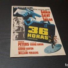 Cine: PROGRAMA DE MANO ORIG - 36 HORAS - SIN CINE. Lote 147690530