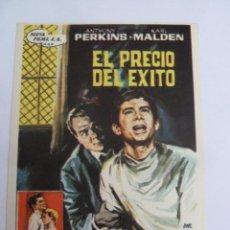 Cine: EL PRECIO DEL EXITO ANTHONY PERKINS FOLLETO DE MANO ORIGINAL ESTRENO PERFECTO ESTADO. Lote 147720666