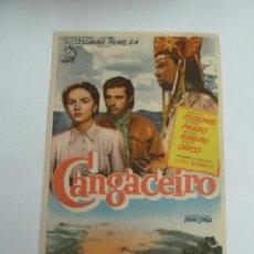 Cine: CANGACEIRO FOLLETO DE MANO ORIGINAL ESTRENO PERFECTO ESTADO. Lote 147720858